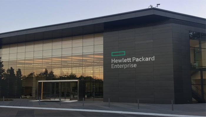 Hewlett Packard Enterprise's offices.