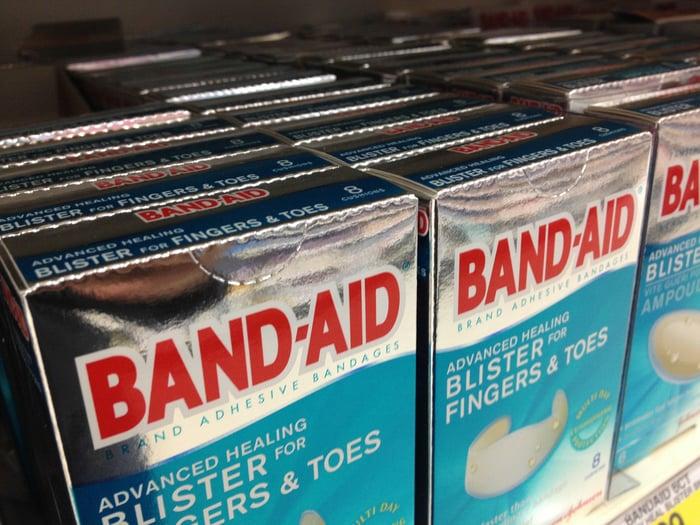 Boxes of Band-Aid bandages