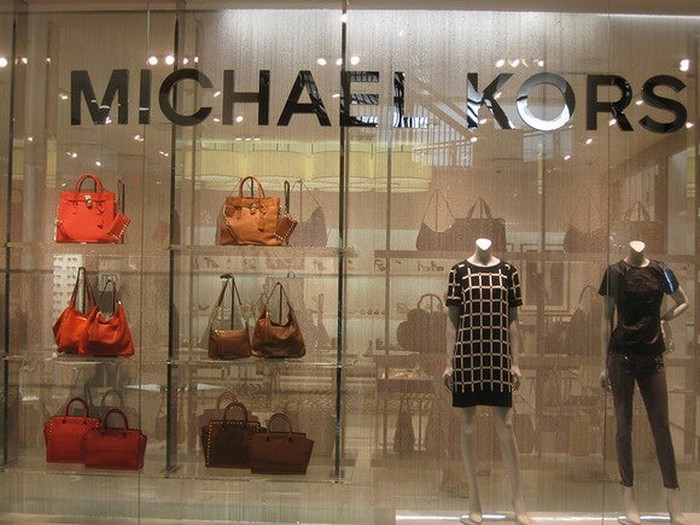 A display window at a Michael Kors store.