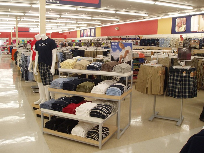 Clothing department in a Kmart store