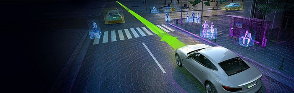 Artist rendering of a driverless car.