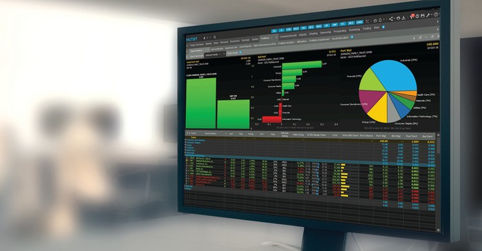 FactSet analytical screen.