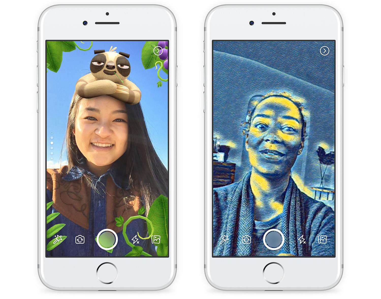 Facebook Snapchat competitor screenshots