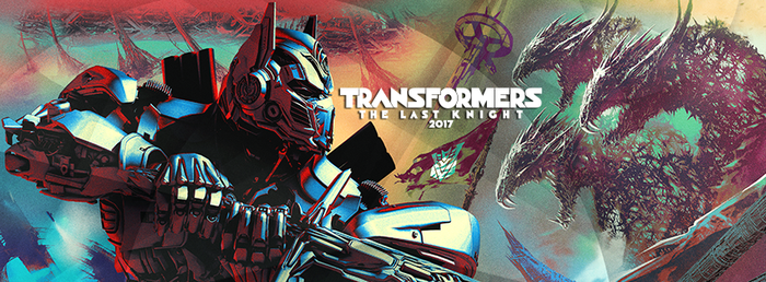 """Cartoon-style version of Optimus Prime from """"Transformers"""" holding a sword."""