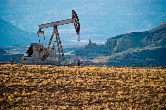 A pumpjack at the Aneth Field.