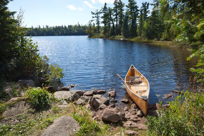 Minnesota lake in summer.