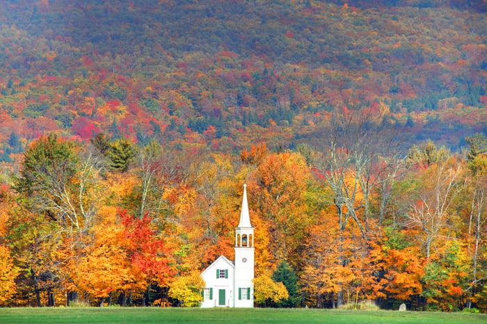 New Hampshire in autumn.