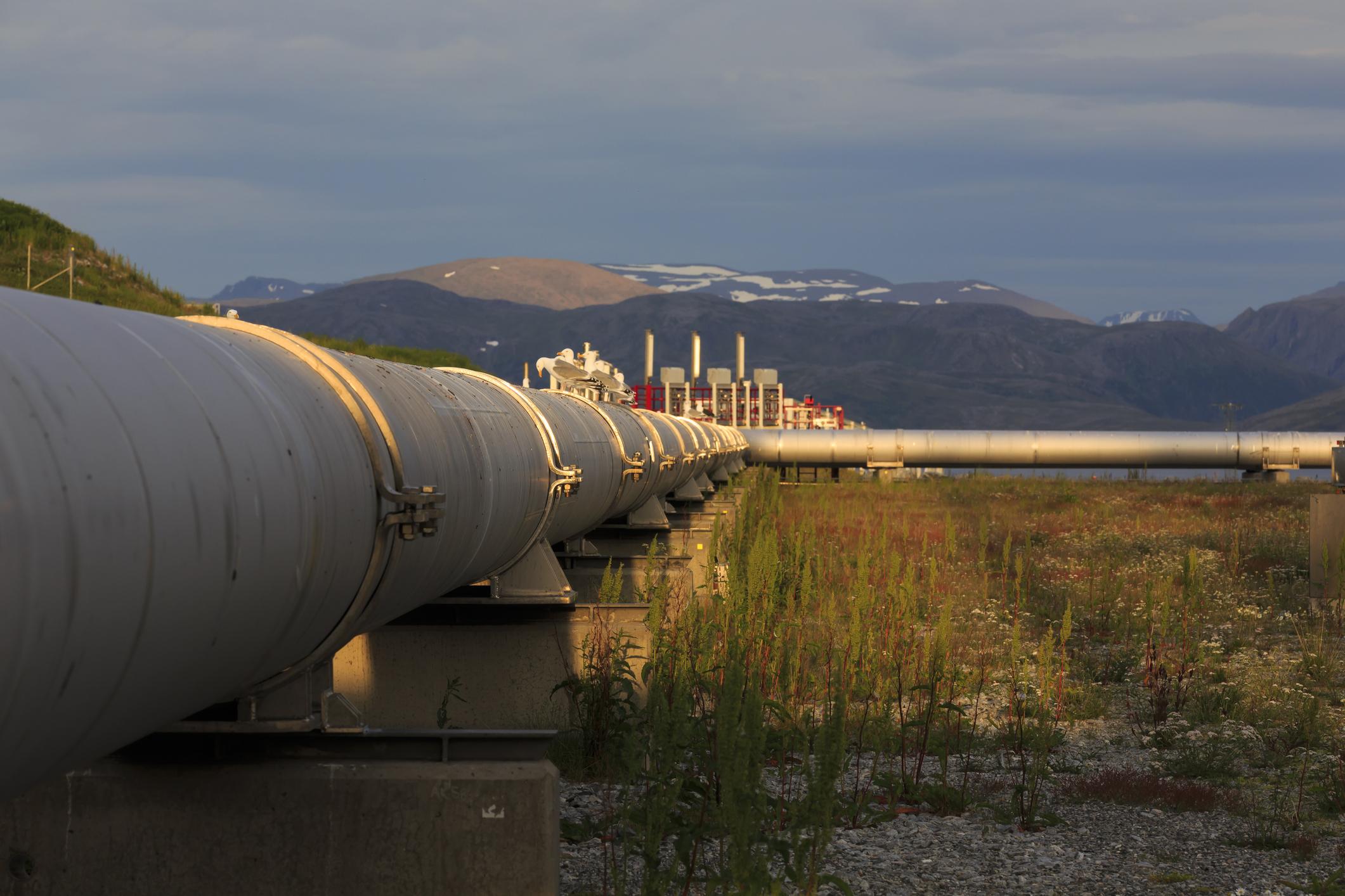 A pipeline in daylight