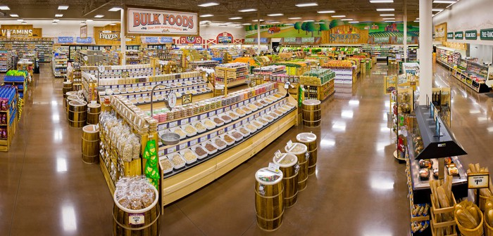 The inside layout of a Sprouts Farmers Market grocery store.