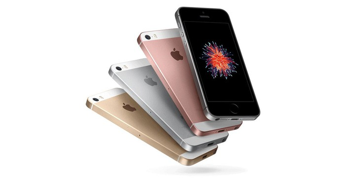 Four different versions of the Apple iPhone se