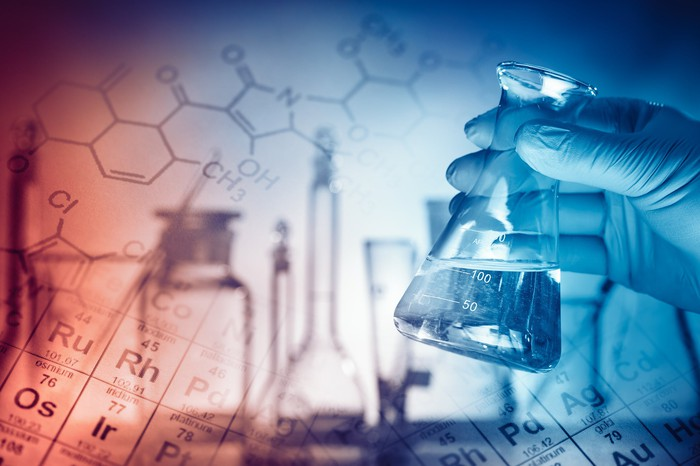 Beakers, vials, and other implements of specialty pharmaceuticals