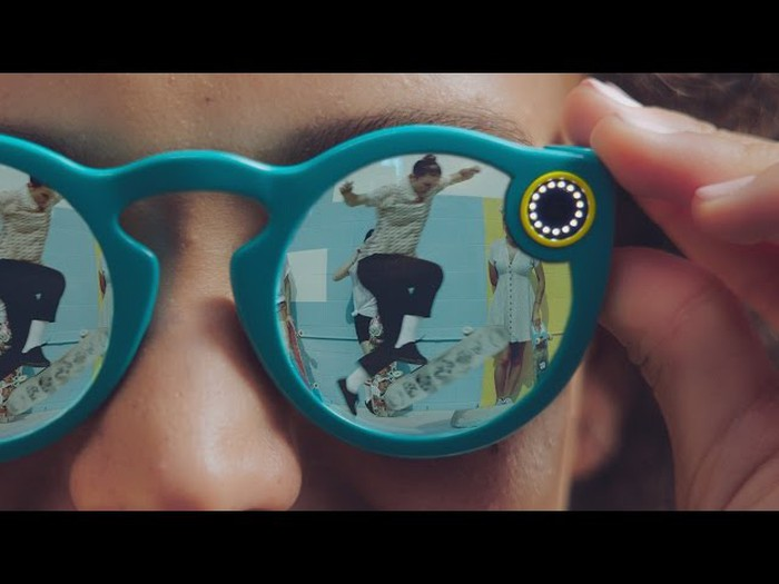 A pair of Snap Spectacles.