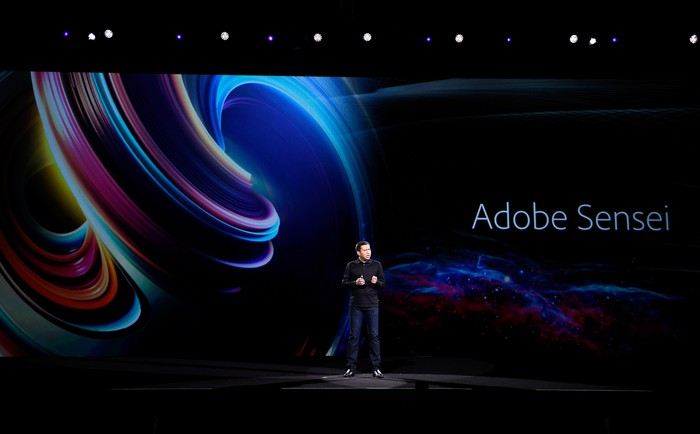 Adobe CTO Abhay Parasnis discusses Adobe Sensei at Adobe Summit 2017.