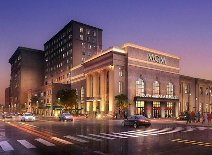 Rendering of MGM Springfield in Massachusetts.