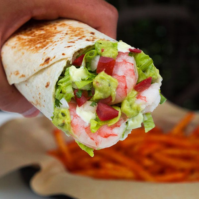 Shrimp and avocado burrito from the Japan Taco Bell menu.