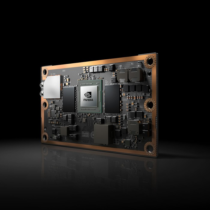 This image shows NVIDIA's Jetson TX2 embedded module.