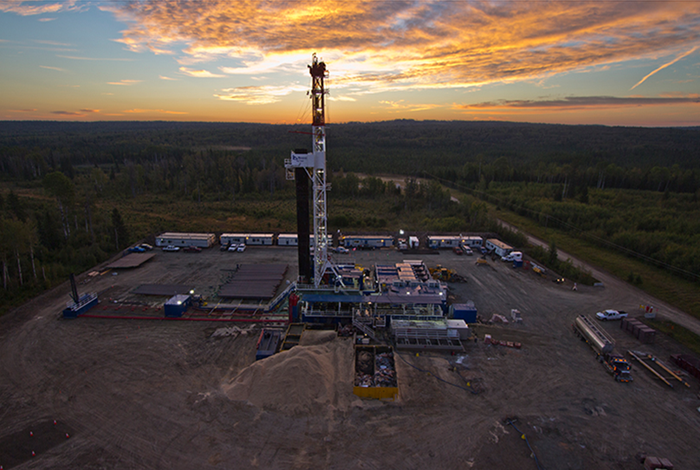 A drilling rig in Canada.