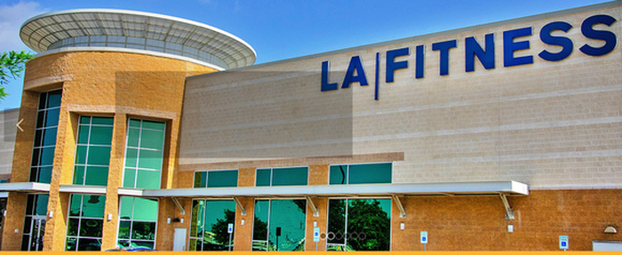 Exterior view of an LA Fitness location.