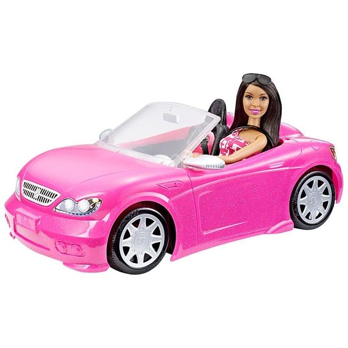 Barbie in a Glam convertible