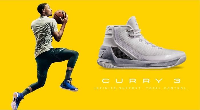 UA's flagship Curry 3 shoes.