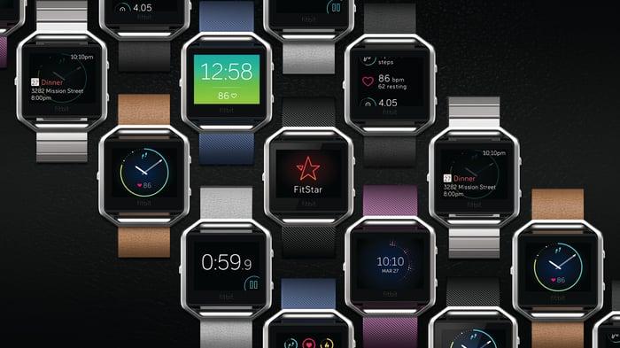 Fitbit's Blaze smartwatch.