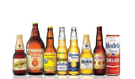 Corona and Modelo beer lineup
