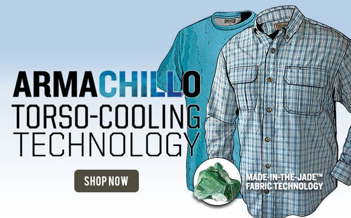 An illustration of Duluth Trading Company's Armachillo shirts