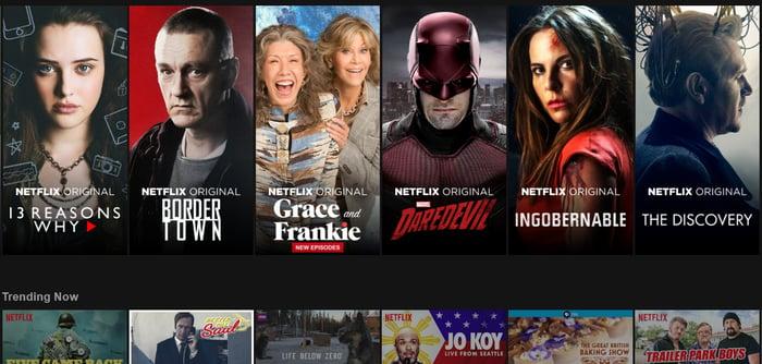 A subscriber's Netflix screen shot.
