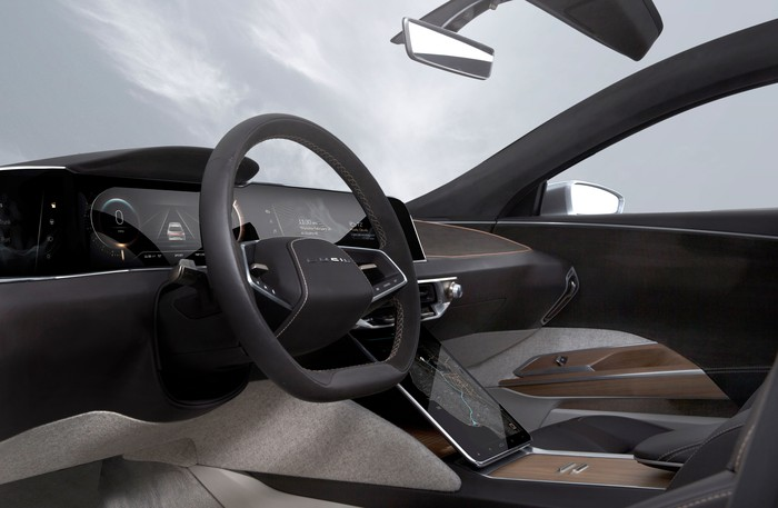 Lucid Air driver's seat