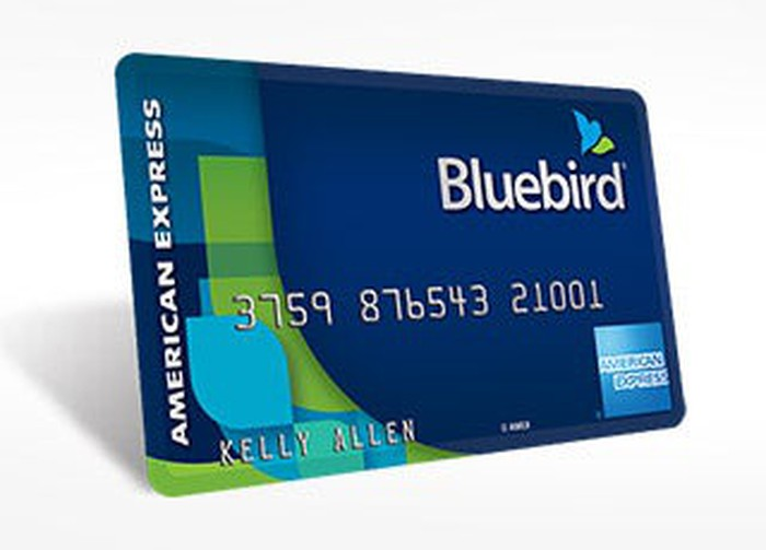 A Bluebird credit card from Wal-Mart and American Express