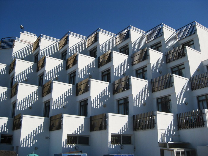 A condominium building