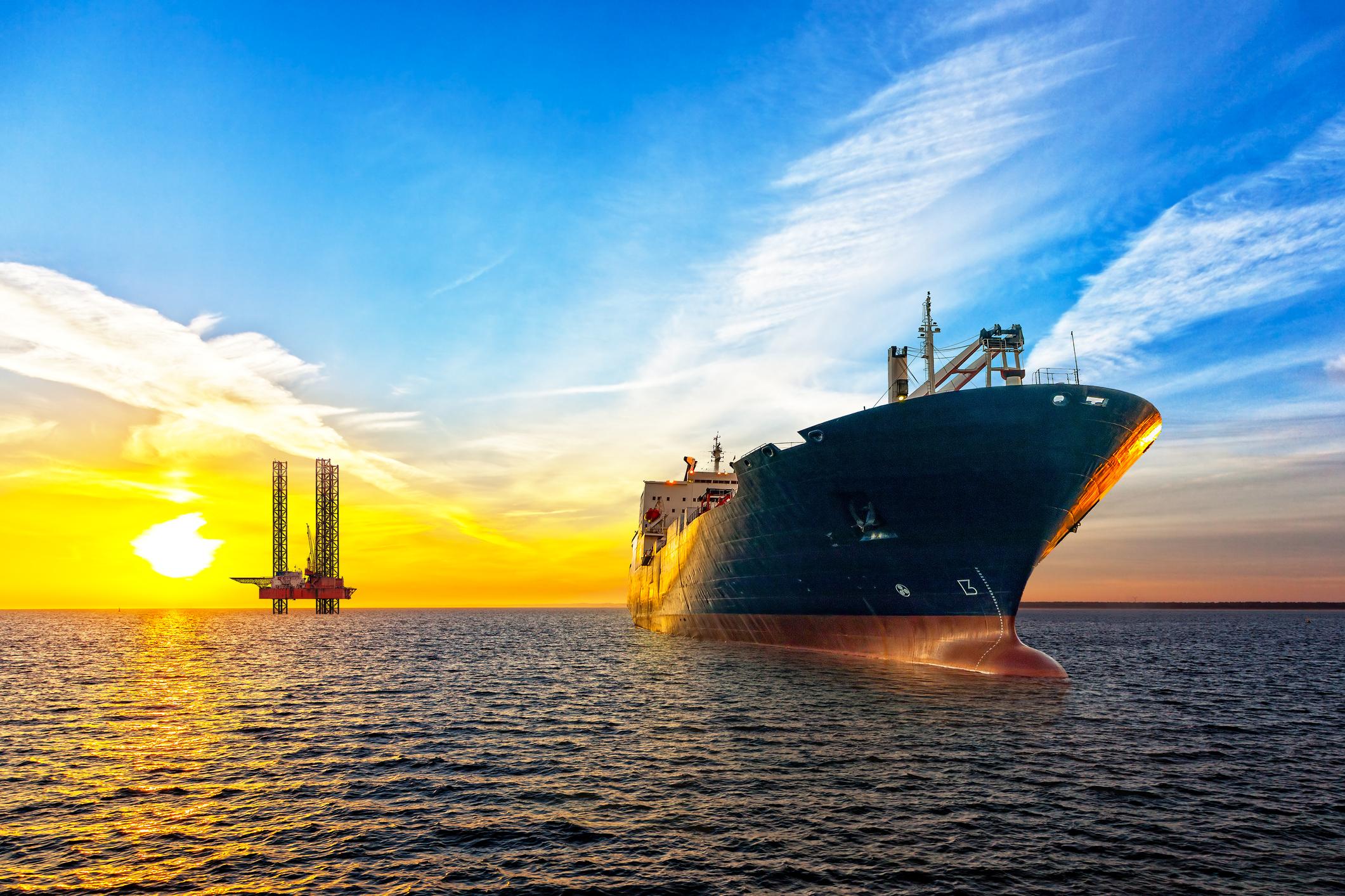Oil tanker.