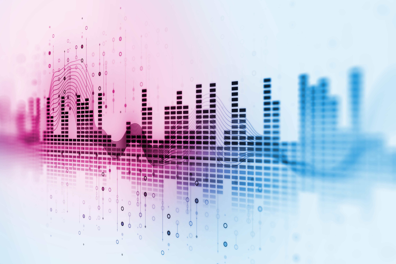 Artistic rendering of audio waveform.