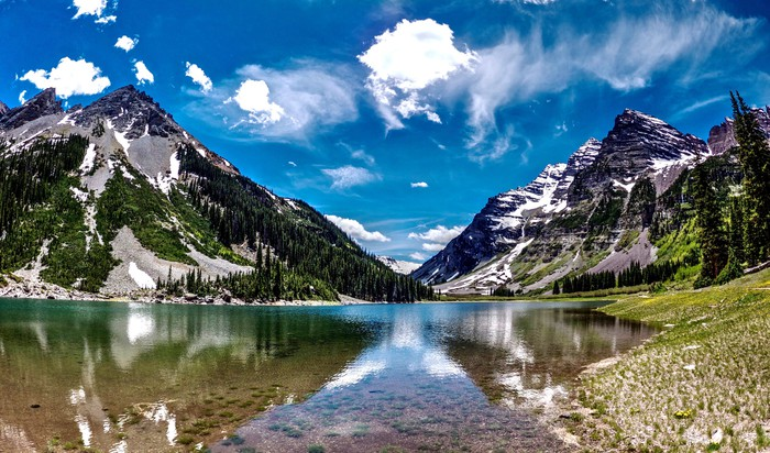 Mountains and river in Colorado.