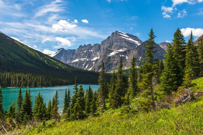 Josephine Lake in Montana.