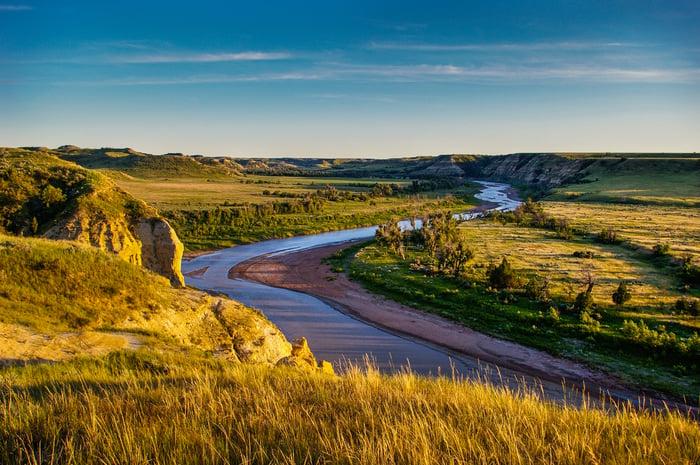 Badlands in North Dakota.