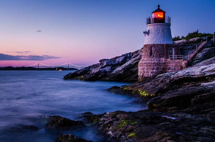 Castle Hill Lighthouse in Rhode Island.