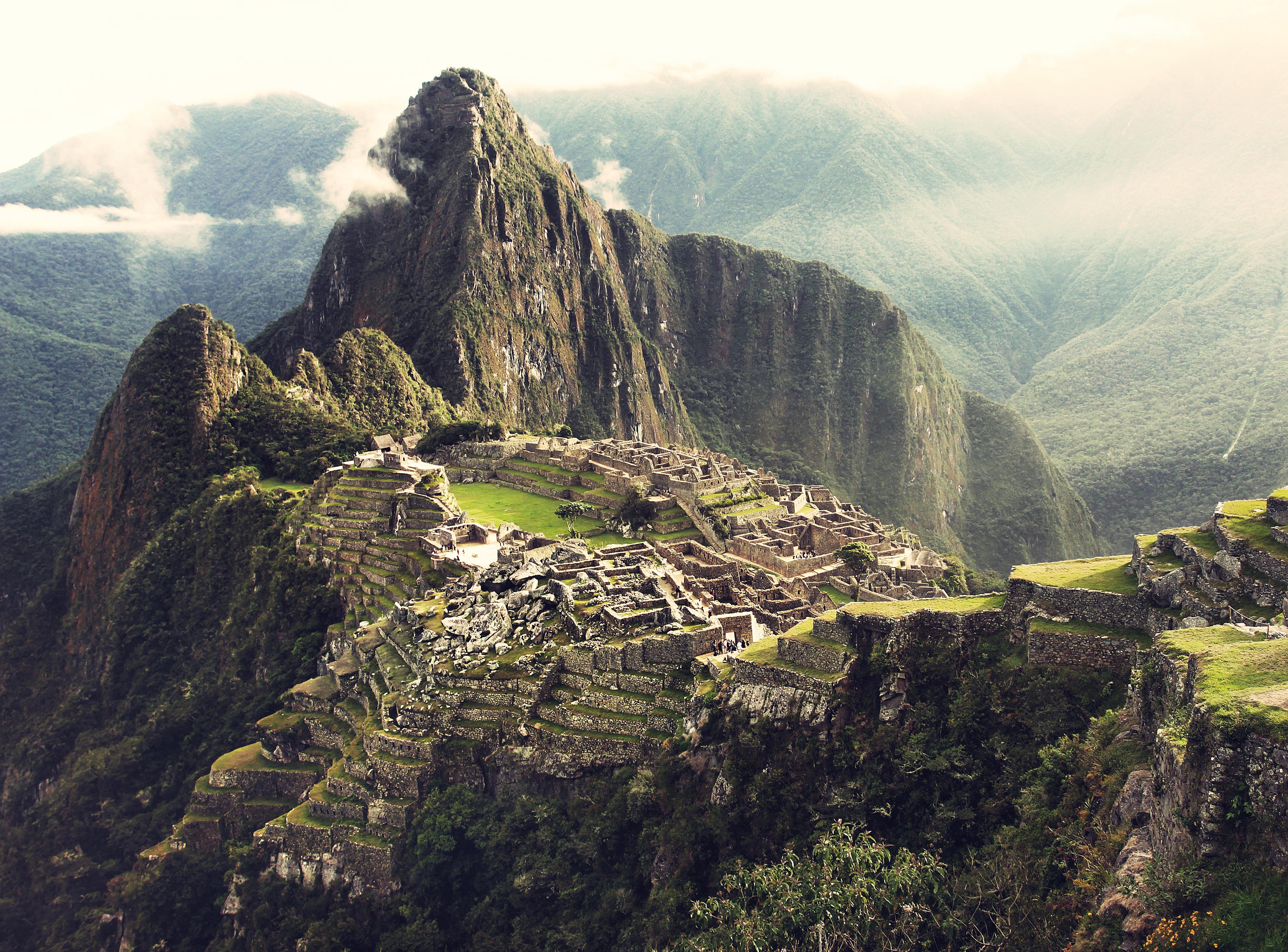 A view of Machu Picchu in Peru.