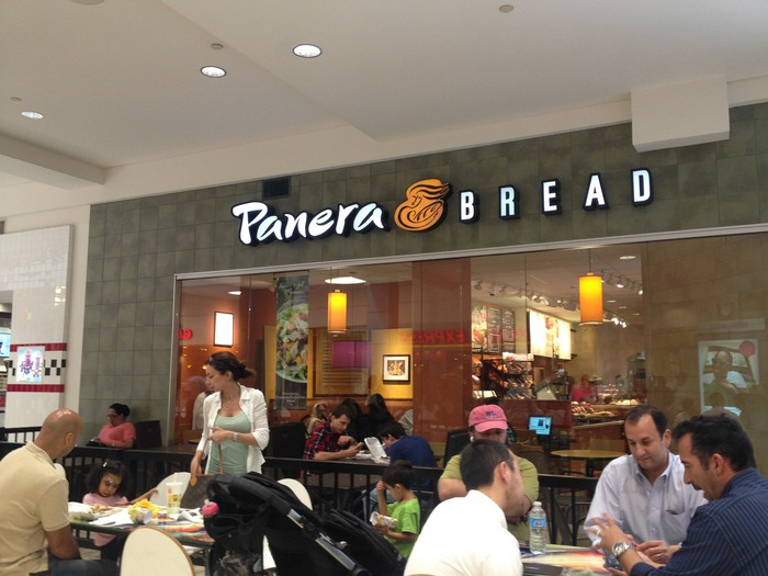 A scene at a Panera Bread cafe