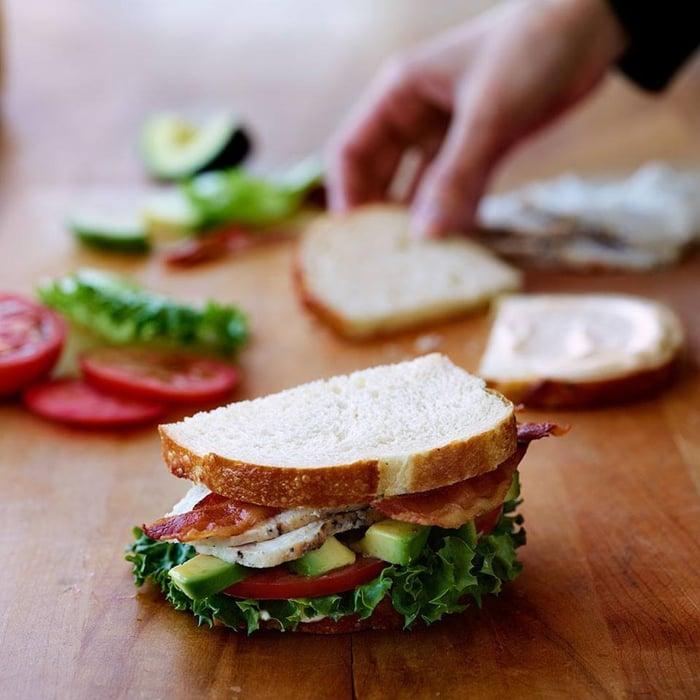 A Panera Bread sandwich.