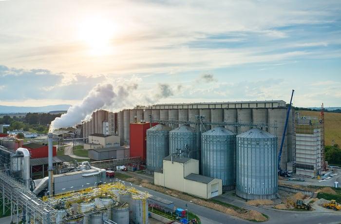 An ethanol production facility.
