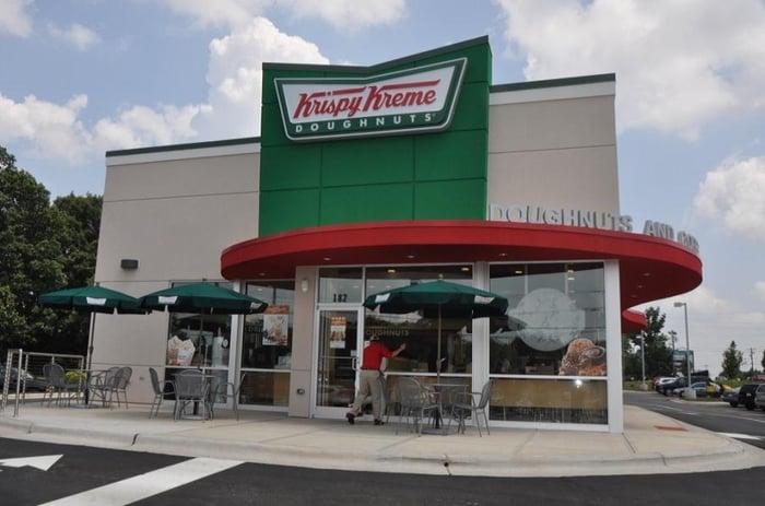 A Krispy Kreme location