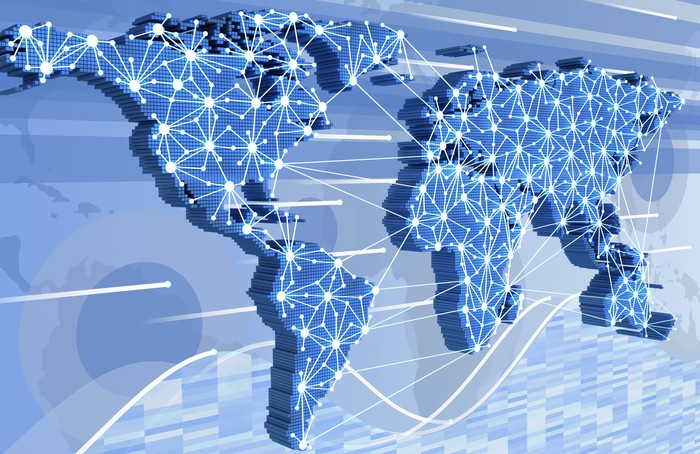 Global networking diagram