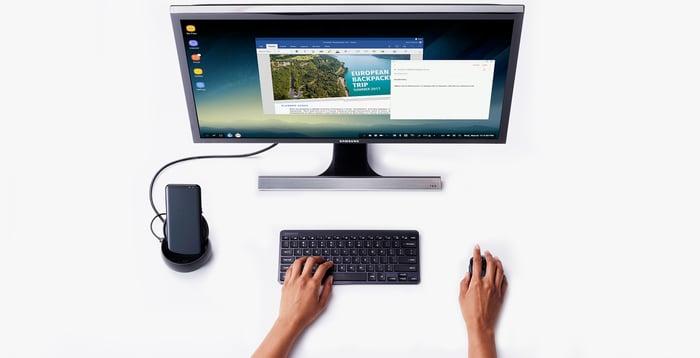 Samsung's DeX Android desktop.