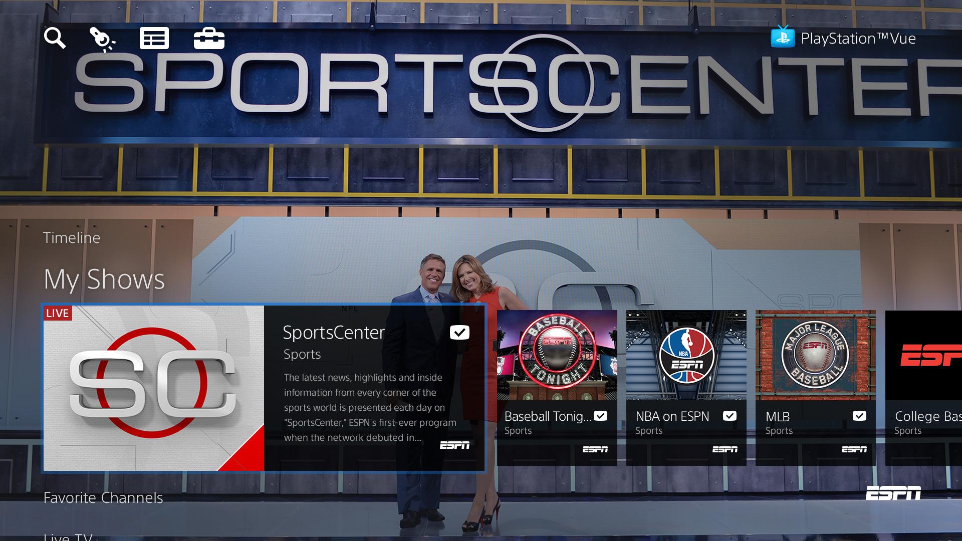 The ESPN SportsCenter set