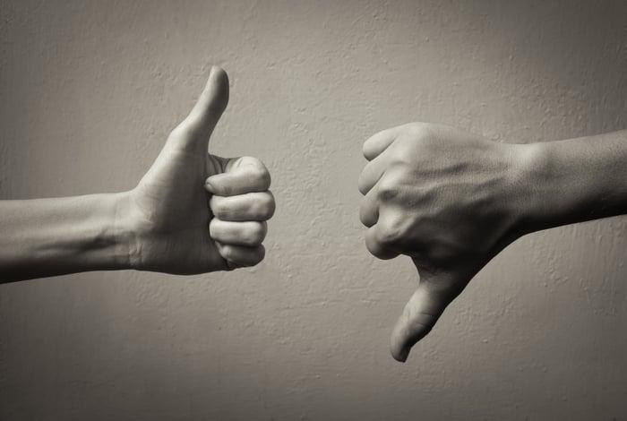 Thumb up, thumb down
