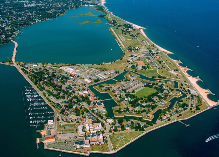 Fort Monroe from the air.