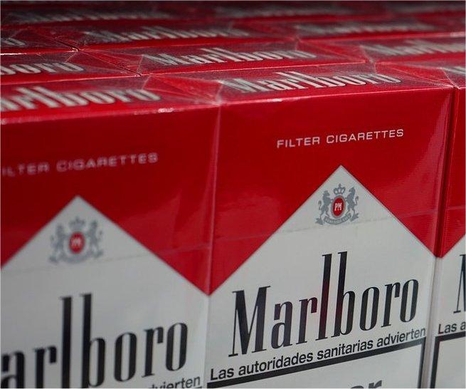 Philip Morris' Marlboro cigarette packages.