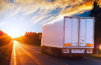 Truck sunrise