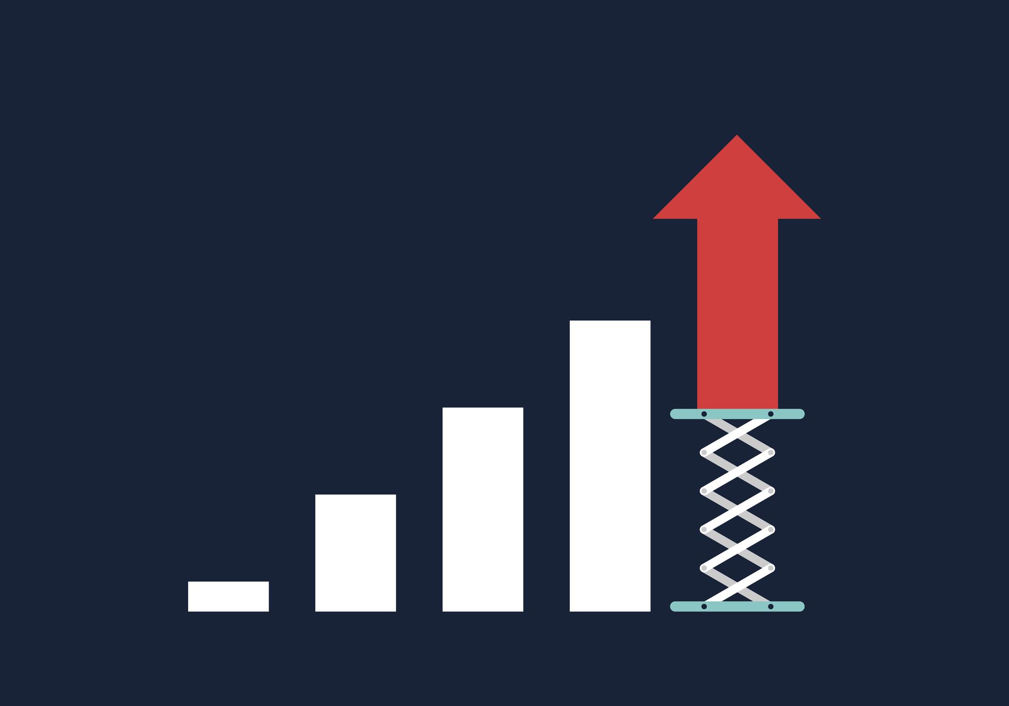 A bar chart symbolizing growth.